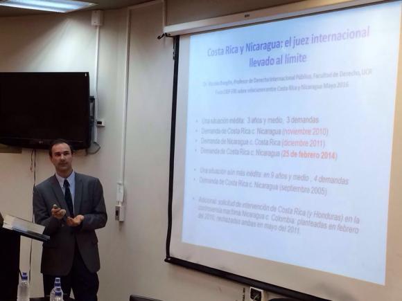 Exposición del Dr. Nicolás Boeglin